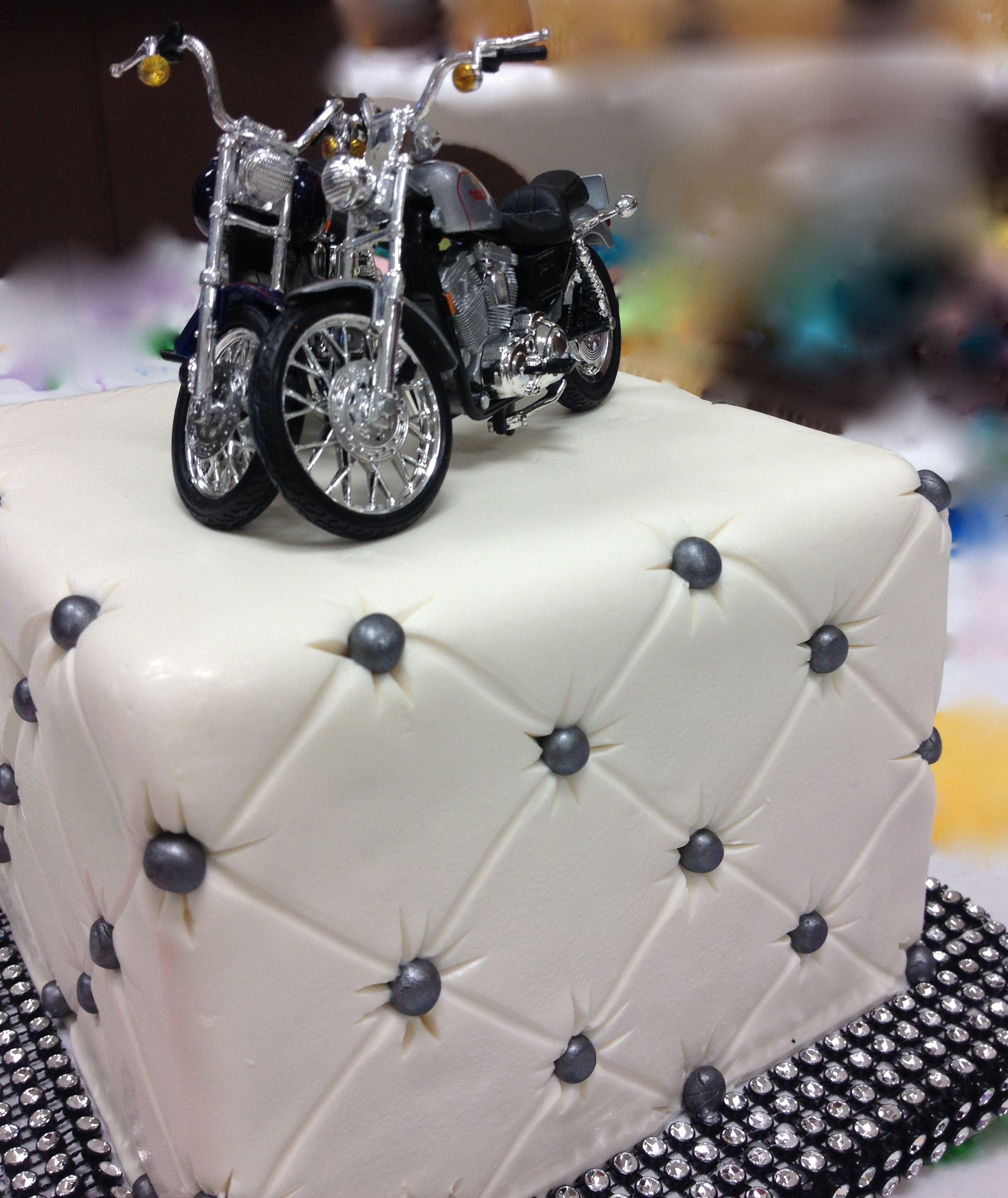 Harley Davidson Motorcycle Cake Toppers Harleydavidson Wedding