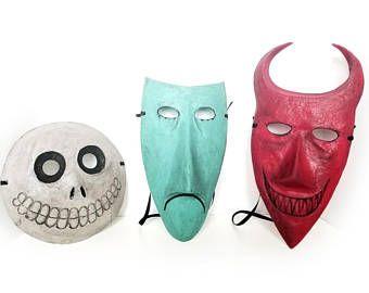 Barrel Adult Mask The Nightmare Before Christmas Costume Halloween Cosplay Gift