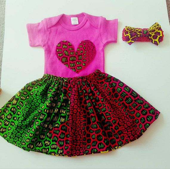 African Print Ankara Baby Girl Dress Bodysuits Matching Outfits Shoe /& headband