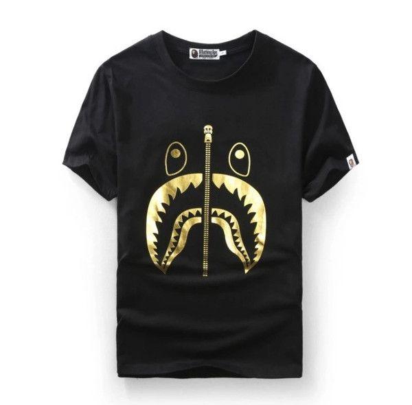038b22683 BAPE Shark 24K Gold Shirt | Cool Shirts in 2019 | Bape shark t shirt ...