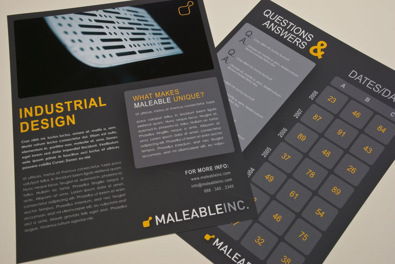 Modern Industrial Design Datasheet Template  Customizable