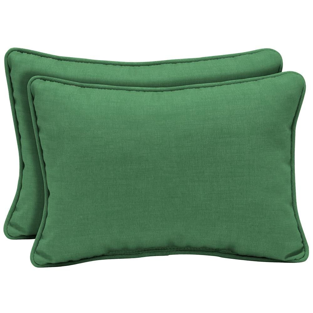ARDEN SELECTIONS 22 x 15 Moss Leala Texture Oversized Lumbar Outdoor Throw Pillow (2-Pack)-TH1H385B-D9Z2 - The Home Depot