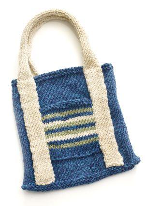 Free Knitting Pattern 90130ad Kids Earth Day Tote Lion Brand Yarn