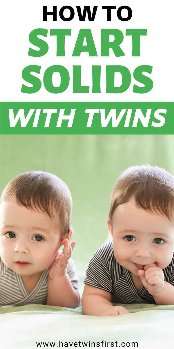 Starting Solids With Twins | Have Twins First in 2020 ...
