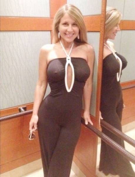 Excited too Busty mature in dress simply