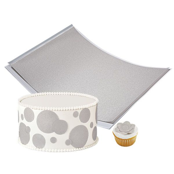 Wilton Shimmering Silver Sugar Sheets! Edible Decorating Paper 710-2925