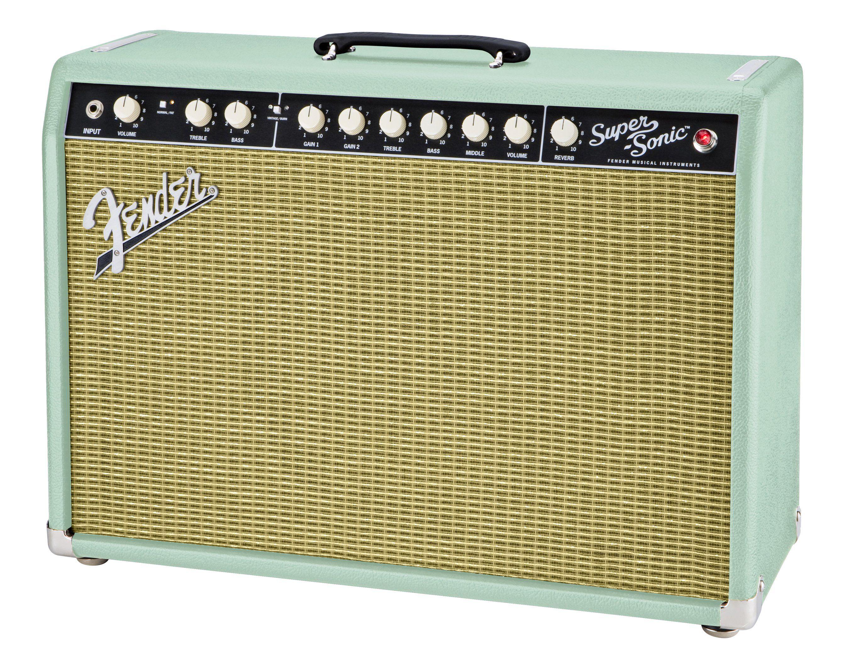 Fender Super-Sonic 22 Amp surf green | Guitar Amps | Pinterest ...