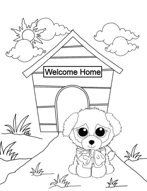 Beanie Boo Coloring Pages New Puppy Free Downloadable