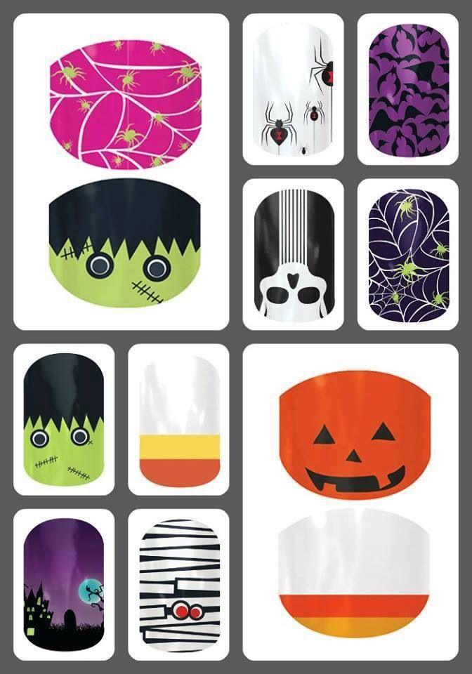 Halloween nails. www.facebook.com/jenbondjamberry ...