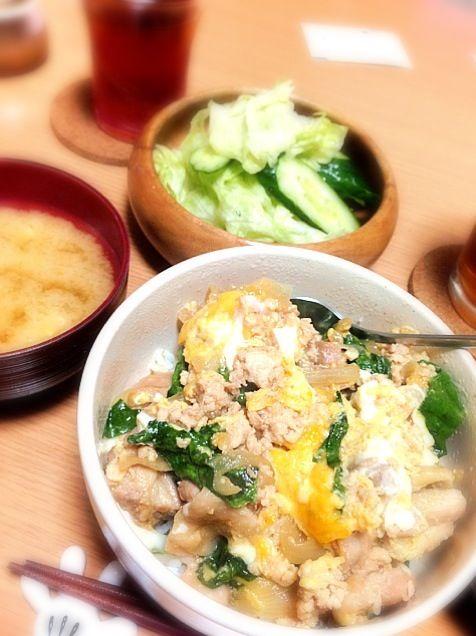 鳥肉が少なかったんで そぼろも入れてみました(^^) - 6件のもぐもぐ - そぼろ入り親子丼 by chinami