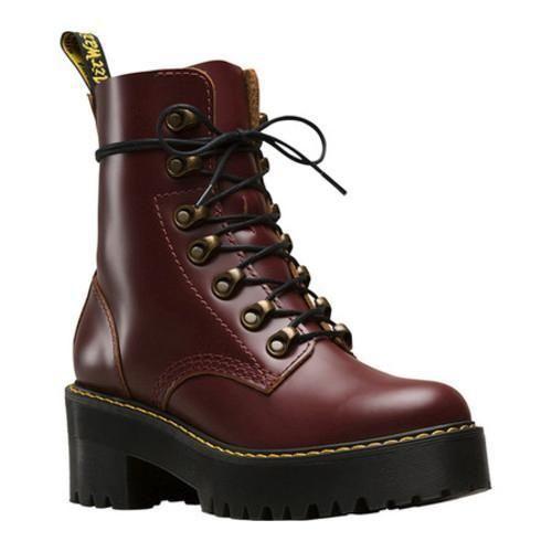 Women s Dr. Martens Leona 7-Eye Hiker Boot Oxblood Vintage Smooth Leather  (UK Women s 9 (US Wms 11) M (Regular)) ff869009a19