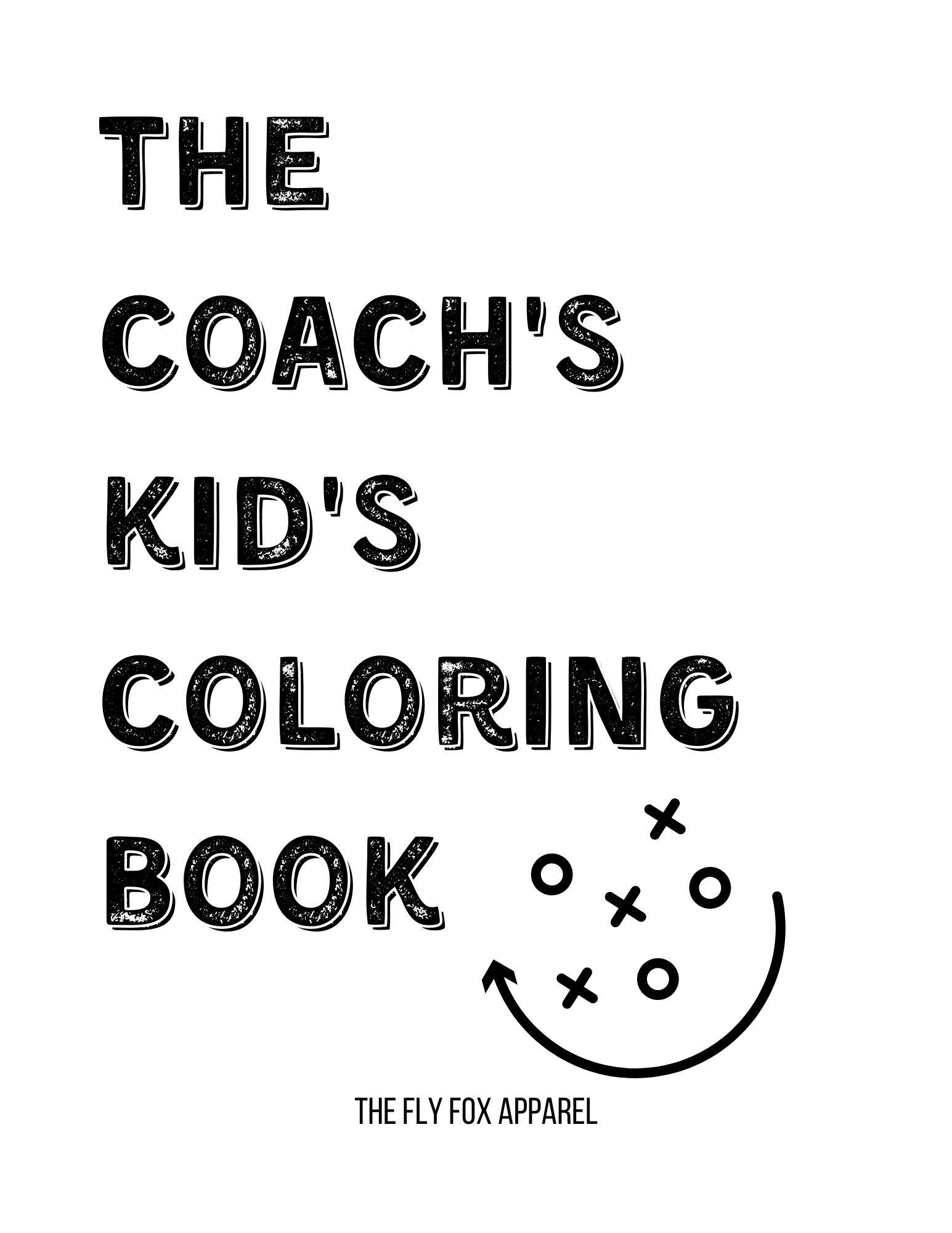 Coach S Kid S Coloring Book Coloring Pages Sports Etsy In 2020 Kids Coloring Books Coloring For Kids Coloring Books