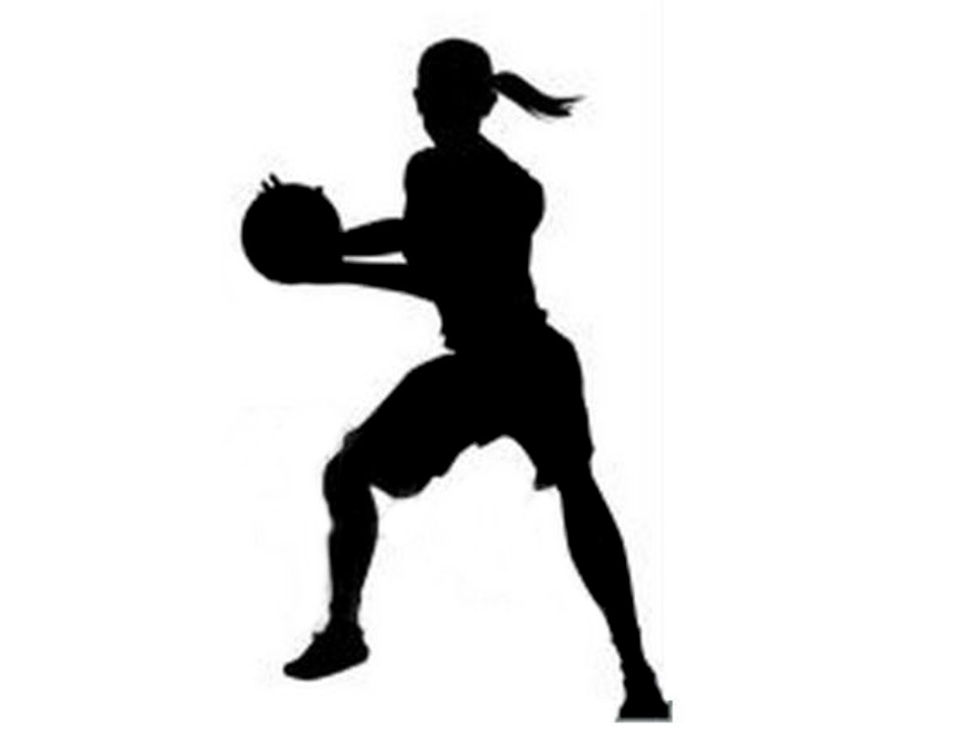 Girl Basketball Player Silhouette Cityyearchicagocivicengagement Painting 2 Indoor Gym Weightroom Mural Girl Silhouette Basketball Painting Silhouette