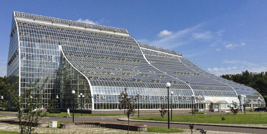 grandes serres du jardin botanique principal de moscou greenhouses pinterest conservatories. Black Bedroom Furniture Sets. Home Design Ideas