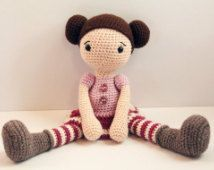 PATTERN : Doll - Crochet pattern - Amigurumi Doll pattern - Knitted - Stuffed doll - Doll - toy - baby shower