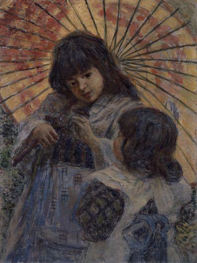 青木繁 『二人の少女』1909年 / Shigeru Aoki 『Two Girl』 | アートの ...