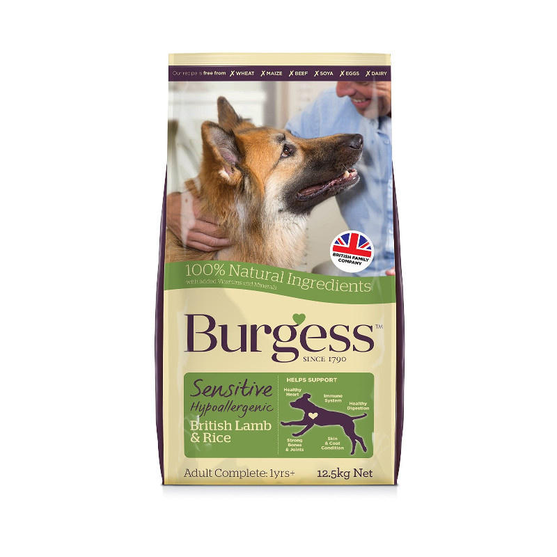Burgess Sensitive British Lamb And Rice Adult Dog Food In 2020