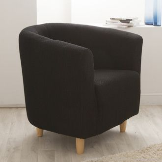 housse de fauteuil cabriolet club unie bi extensible coton. Black Bedroom Furniture Sets. Home Design Ideas