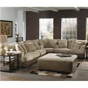 Barkley Large L Shaped Sectional Sofa With Right Side Loveseat By