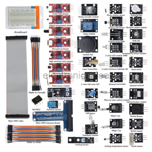 37 in 1 sensor kits #40pin gpio #extension board for #raspberry pi 3 b+ / 2 model, View more on the LINK: http://www.zeppy.io/product/gb/2/291644488839/