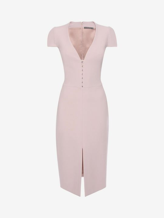 Shop Women's Hook Detail Pencil Dress from the official online store of iconic fashion designer Alexander McQueen.
