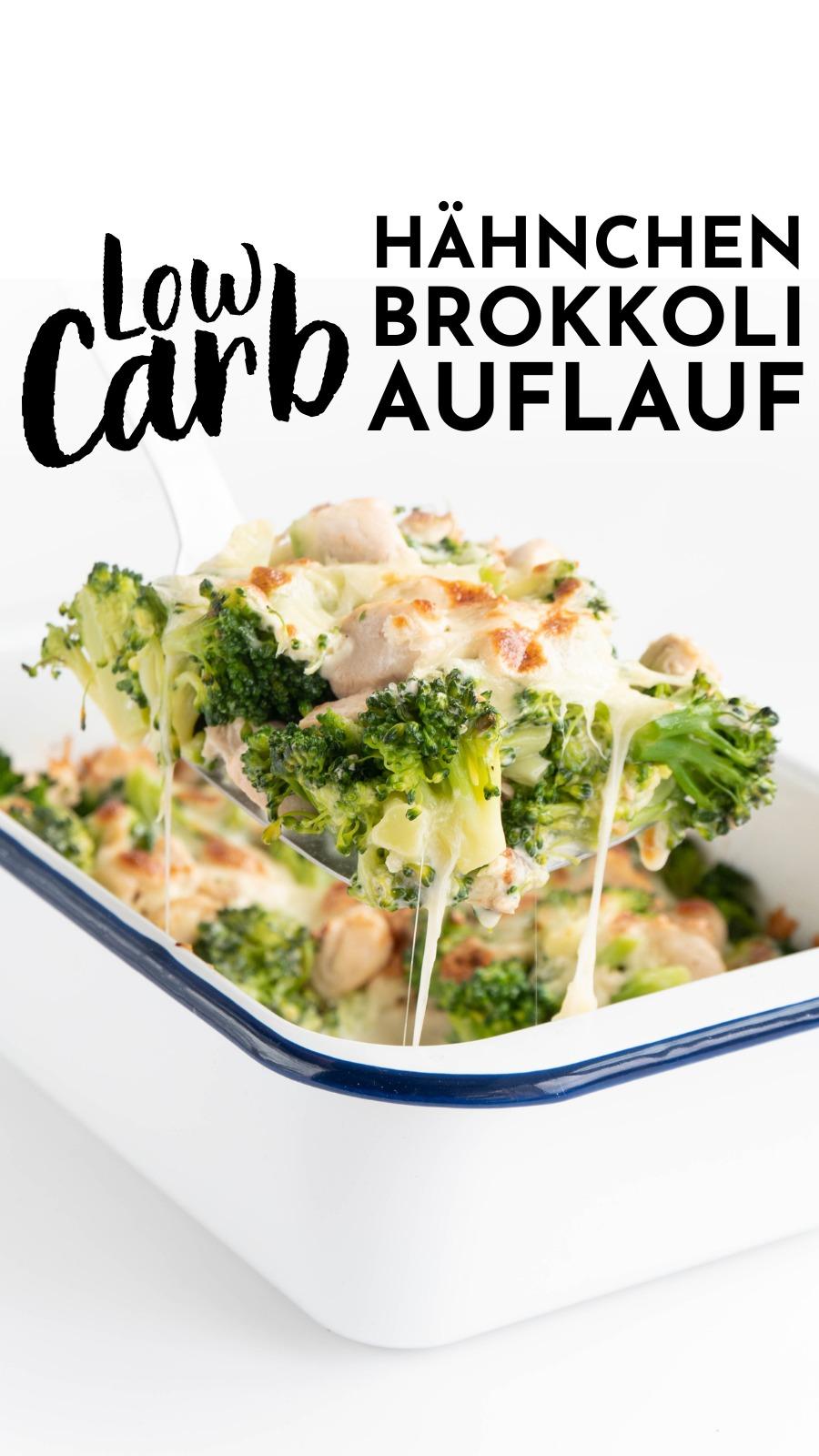 Richtig leckerer Low Carb Hähnchen-Brokkoli-Auflau