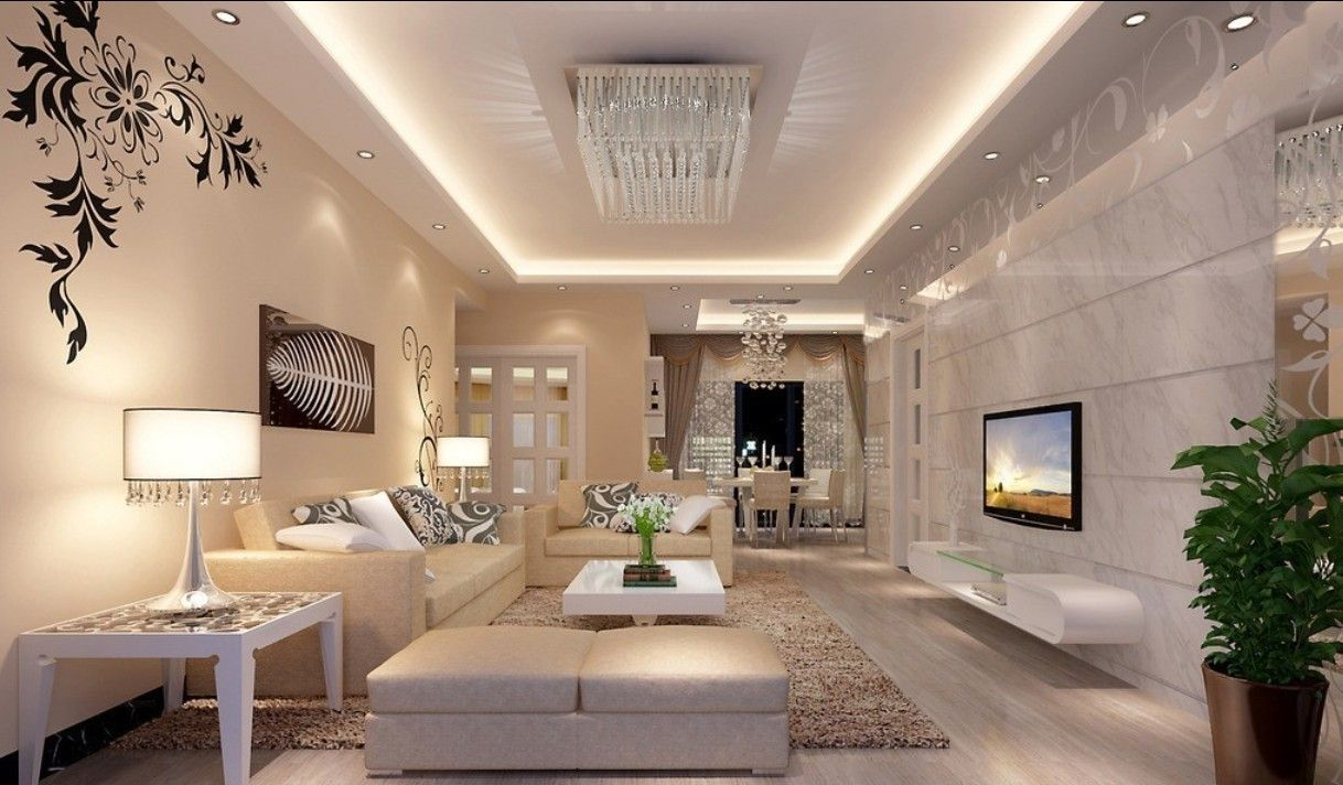 Modern elegant living room has a sofa that is big and beautiful and - 18 Small Living Room Design Ideas With Big Statement