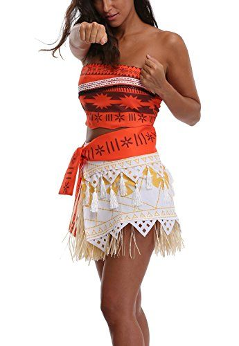 7108729aec3c6 Women Girl Princess Cosplay Dress Polynesian Costume for Halloween --  Details can be found by clicking on the image. (This is an affiliate link  and I ...