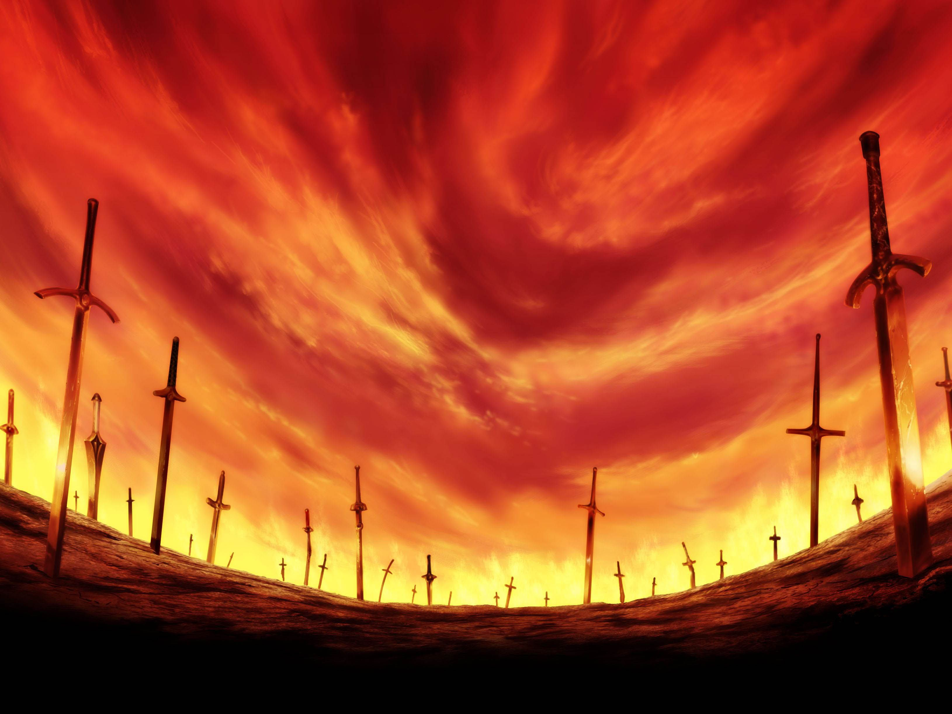Anime Fate Stay Night Unlimited Blade Works Wallpaper Dengan