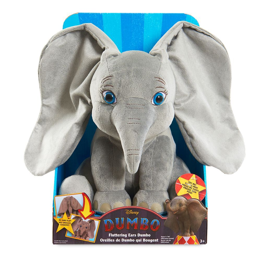 Dumbo Fluttering Ears Plush   Live Action Film is part of Dumbo live action, Live action, Disney dumbo, Live action film, Dumbo, Dog pajamas - Your heart will be all a flutter when you fall in love with this Dumbo p    View Details