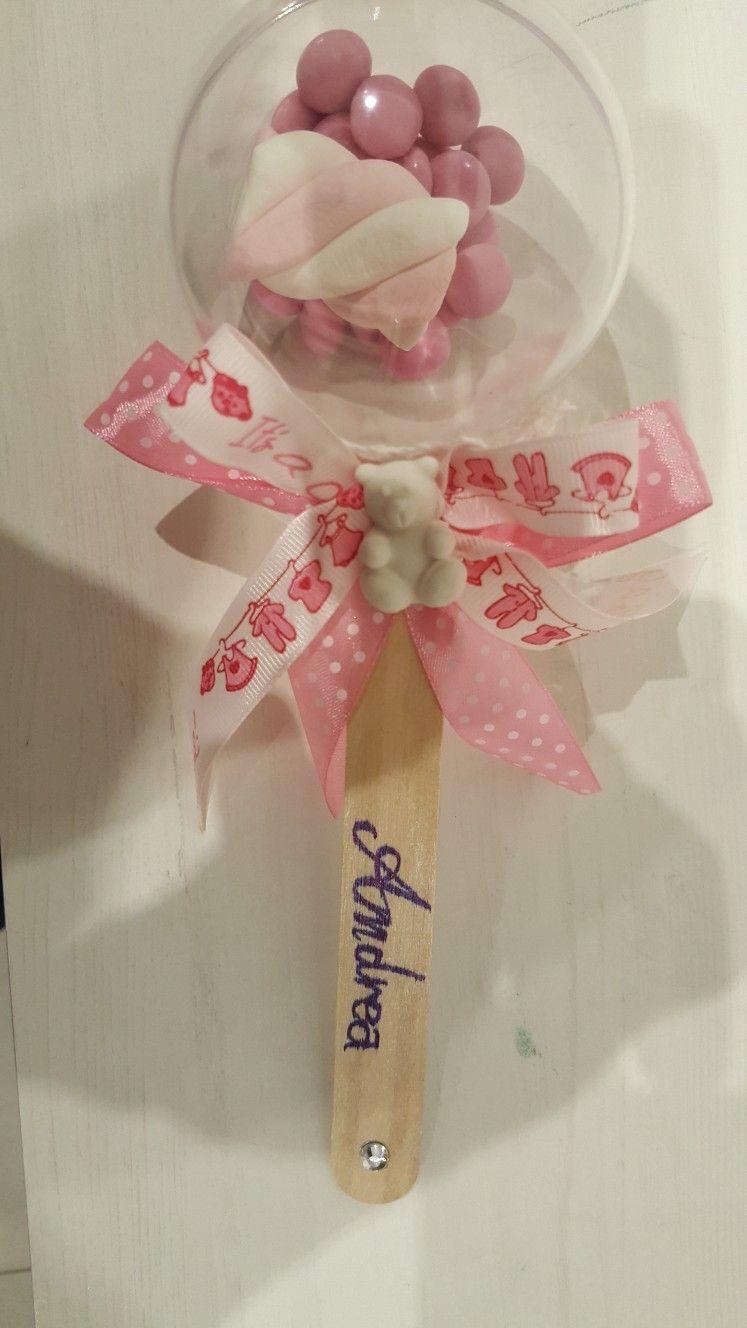 Sonaglino Con Confetti Per Battesimo O Primo Compleanno Primo Compleanno Battesimo Feste Di Nascita