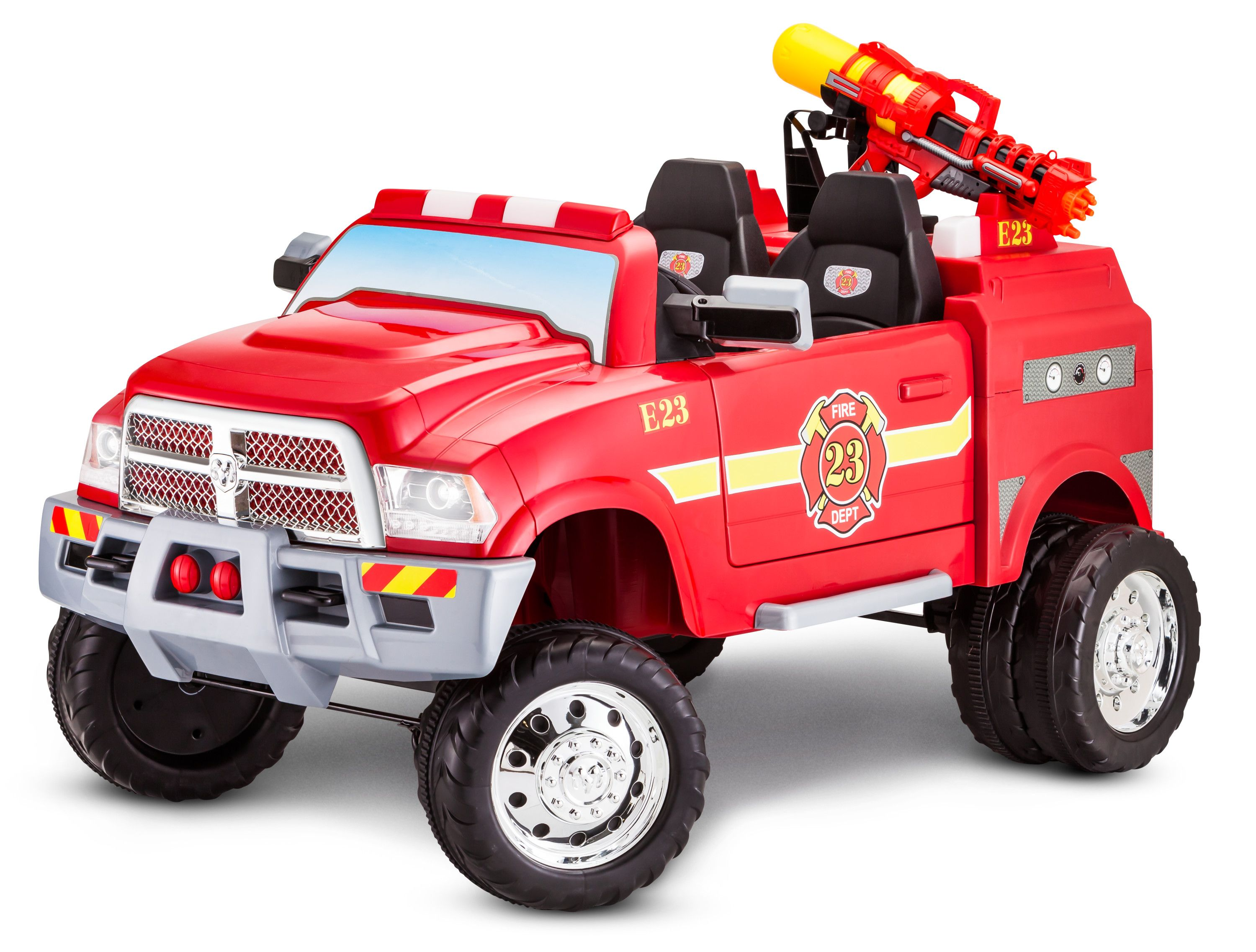 Ram 3500 Fire Truck Ride On Toy By Kid Trax Red Walmart Com Toy Fire Trucks Fire Trucks Ride On Toys