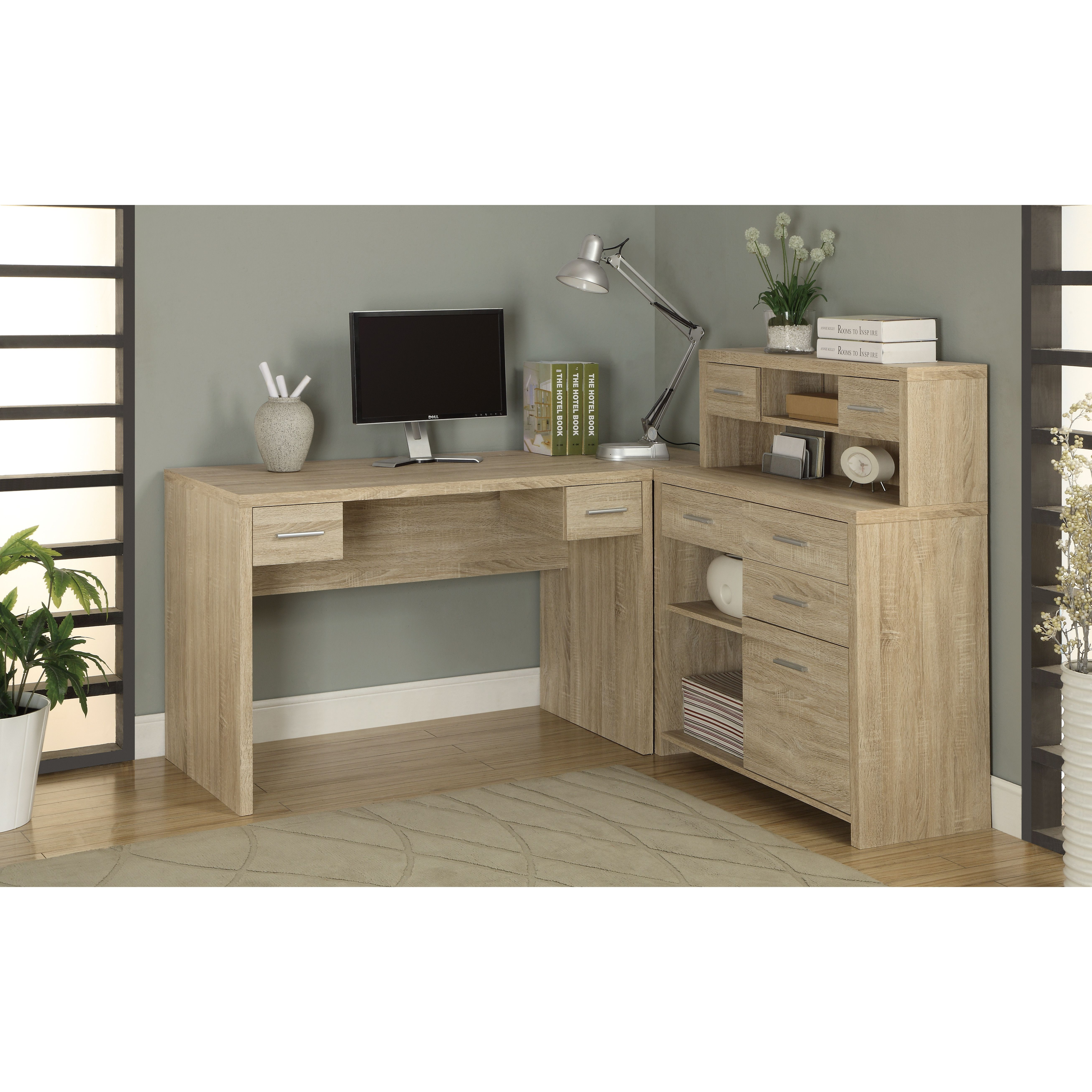 Milford L Shaped Computer Desk With Hutch By Latitude Run