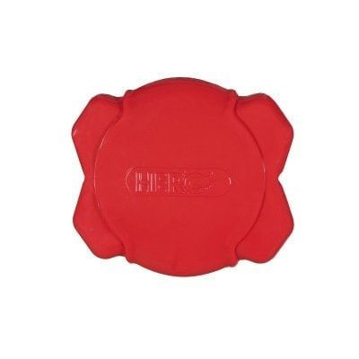 "DOG TOYS - RUBBER AND PLASTIC - HERO SQUEAK FIELD DISC RED - 7"" - Caitec Corporation - UPC: 711085641520 - DEPT: DOG PRODUCTS"