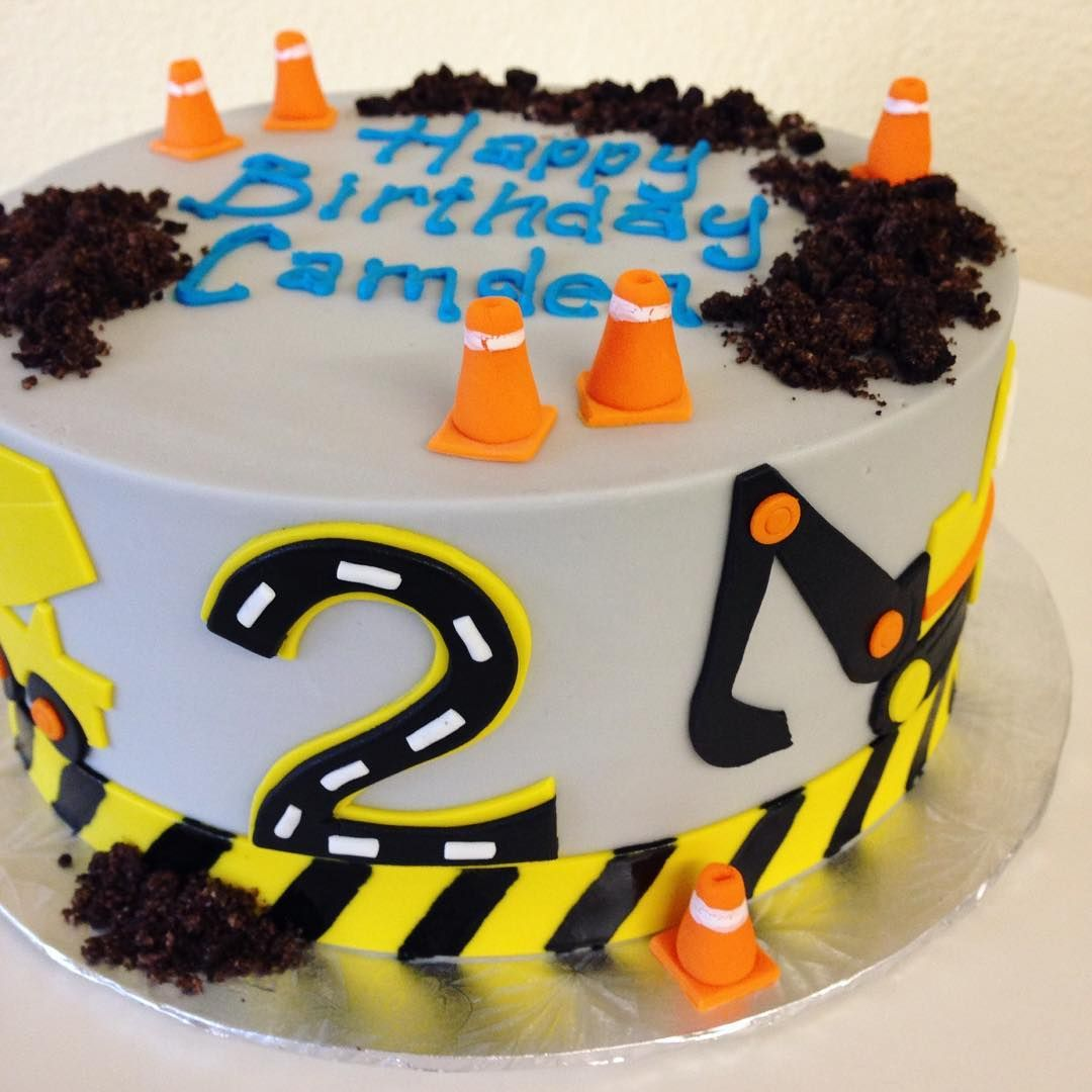 Caution Party Ahead Stuffedcakes Customcakes Constructionparty