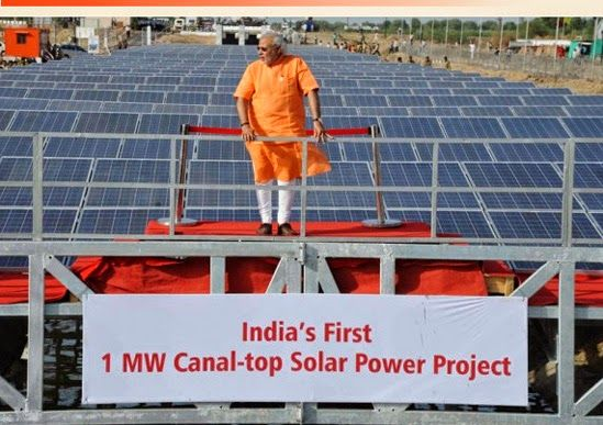 Global Pv An Industry In Flux 1 Mw Narmada Canal Solar Power Plant Solar Power Plant Solar Power Solar