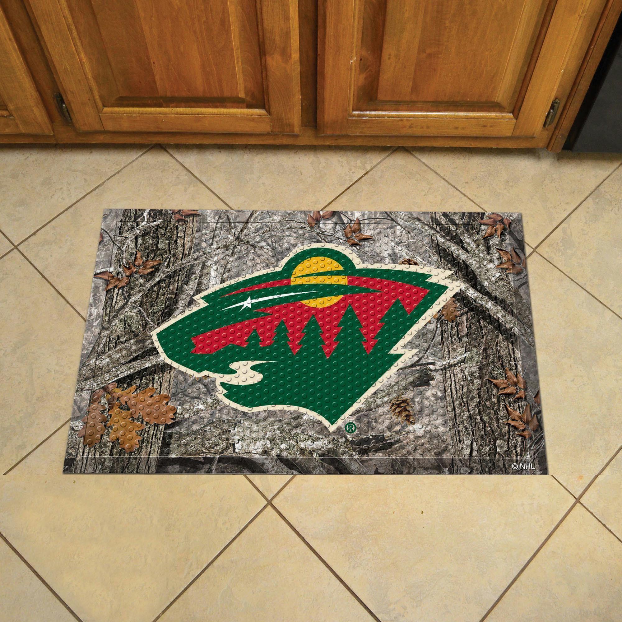 Minnesota Wild Scraper Mat 19x30 - Camo