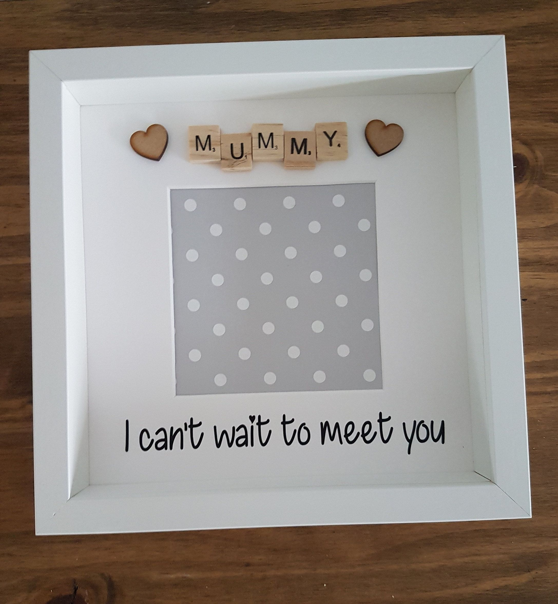Mommy frame, Mothers Day, Keepsake frame, I can\'t wait to meet mummy ...