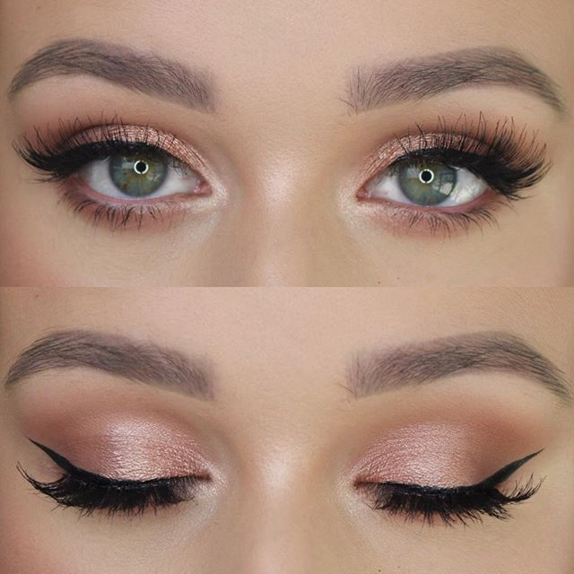 Charlotte #is #obsessed #with #rose #gold! #She #used #her #gifted #e.l.f. #Matte #Eyeshadow …