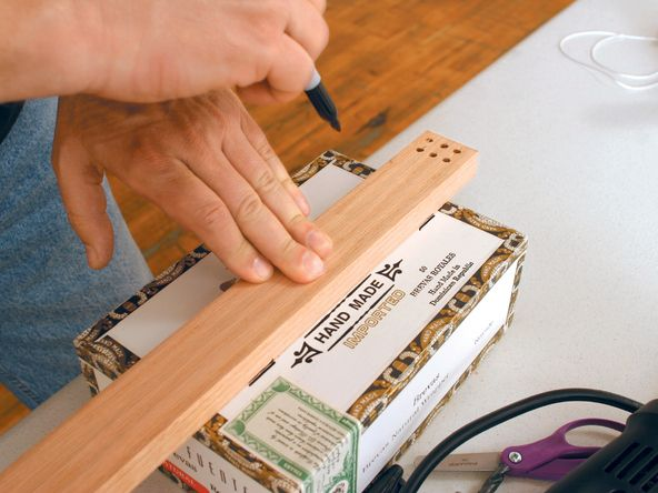 how to build a cigar box guitar with instructions after school art cigar box guitar box. Black Bedroom Furniture Sets. Home Design Ideas
