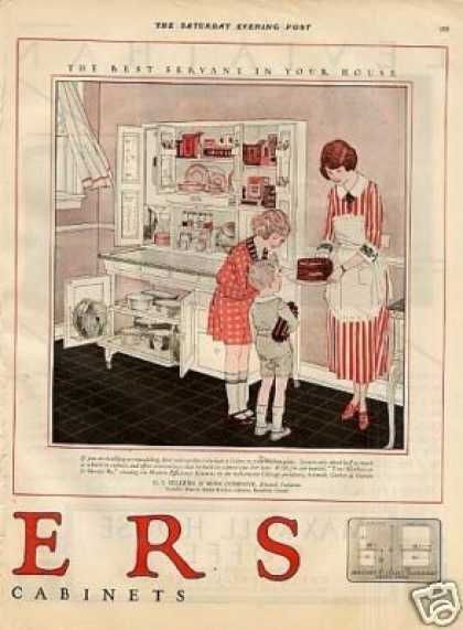 Sellers Cabinets 1900 to 1920 | Sellers Kitchen Cabinet Color Ad 2 ...