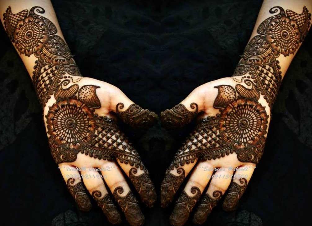 Gorgeous Bridal Mehndi Designs : Latest shaded bridal full arm henna designs arabic for bride