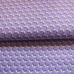 Tissu soft cactus, labellisé oeko-tex little wings violet