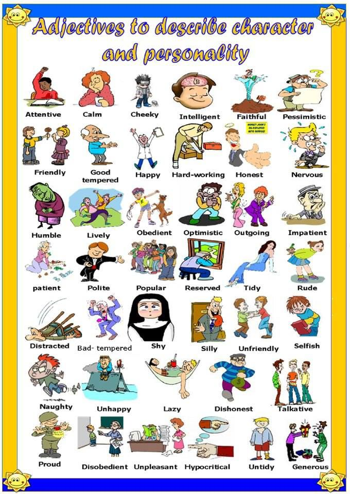 adjectives to describe character and personality | ME | Pinterest