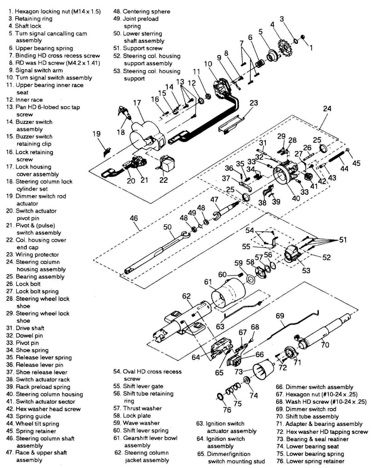 1989 chevy truck steering column diagram and steering column feels like a  loose tooth - third | chevy trucks, loose tooth, steering column  pinterest