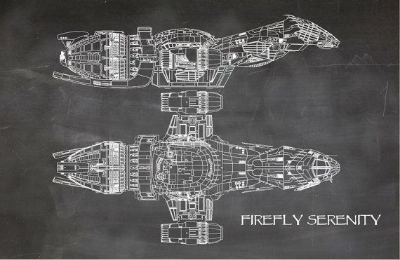 Firefly serenity blueprint art of firefly class technical drawings firefly serenity blueprint art of firefly class technical drawings engineering drawings patent blue print art item 0099 malvernweather Gallery