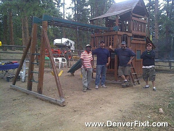 A larger Backyard Adventures Playset relocation to Evergreen, CO. - A Larger Backyard Adventures Playset Relocation To Evergreen, CO