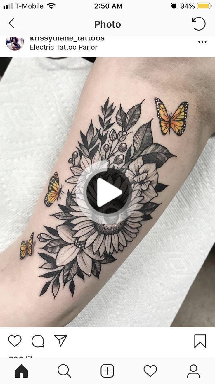 Sleeve tattoos sunflowers #sleeve #tattoos #sunflowers & Ärmel tätowie