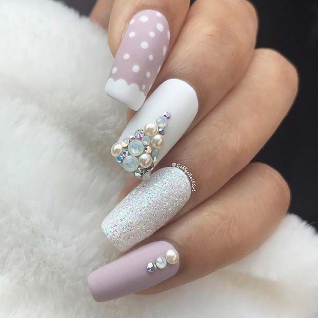 Christmas Nails Acrylic Long: 43 Pretty Holiday Nails To Get You Into The Christmas