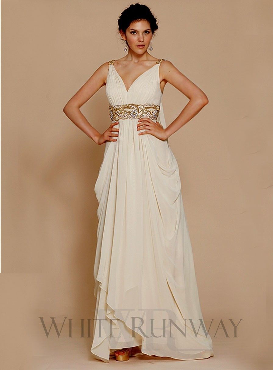 Nice Scarlet Dress A beautiful grecian maxi dress with embellishments and draping at the hips